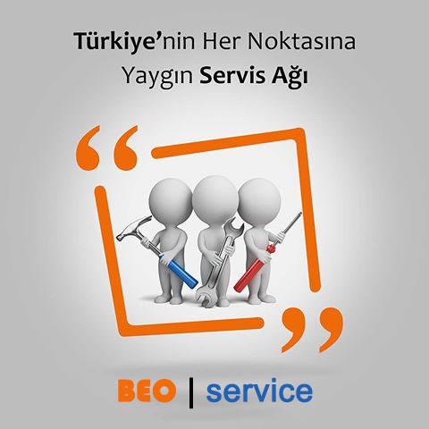 Türkiye'nin her yerinde yaygın servis ağı