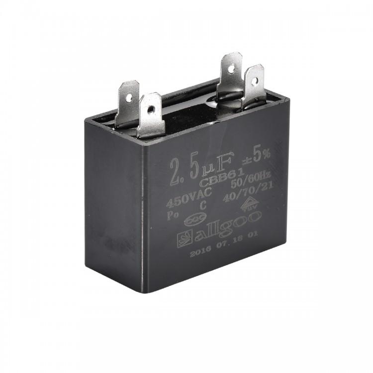 Kare Kondansatör 2,5 µF 450 VAC - 50-60 Hz