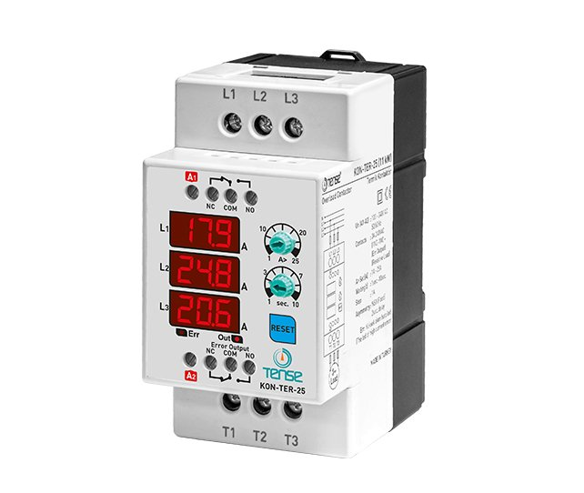 KON-TER-25 25A 11KW Dijital Kontaktör ve Termik Röle TENSE